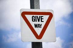 Give Way Stock Photo