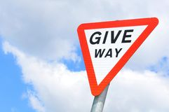 Give way Royalty Free Stock Images