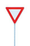 Give way priority yield road traffic roadsign sign Stock Photos