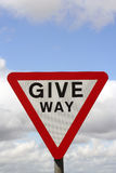 Give way road sign Stock Photos