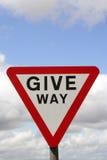 Give way road sign Stock Photos