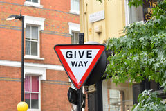 Give Way Road Sign Stock Photography