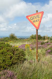 Give way sign. Stock Photos