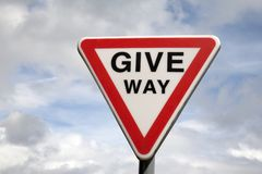 Free Give Way Sign Stock Photos - 27807393