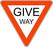 Give Way Sign Royalty Free Stock Photo