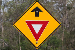 Give Way Sign ahead. Give Way Road Sign. New South Wales, Australia Stock Illustration