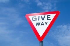 Give Way sign. Stock Photos
