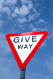 Give Way sign. Royalty Free Stock Images