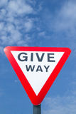 Give Way sign. Stock Photography