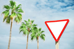 Give way' sign. Royalty Free Stock Photography