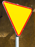 Give way sign - yield sign Stock Images