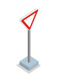 Give Way - Traffic Sign Stock Photography
