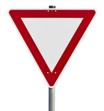 Give way - traffic sign (clipping path included) Stock Images
