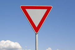 Give way. Traffic signal Stock Photos