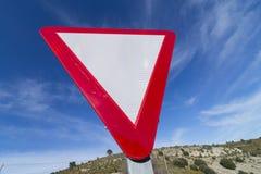Give way. Royalty Free Stock Photo
