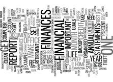 Give Your Finances A Clean Sweep Word Cloud Concept Royalty Free Stock Photos