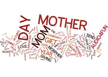 Give Your Mama The Gifts Of Love Word Cloud Concept. Give Your Mama The Gifts Of Love Text Background Word Cloud Concept Royalty Free Stock Images
