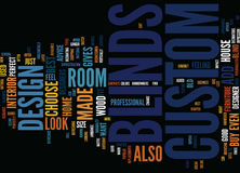Give Your Room A Cozy Feel With Custom Blinds Word Cloud Concept Stock Image