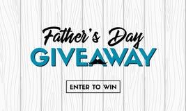 Giveaway διανυσματικό έμβλημα ημέρας πατέρα για τα κοινωνικά μέσα