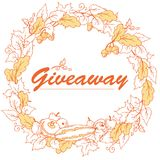 Autumn giveaway, elegant banner with leaves. Royalty Free Stock Photography