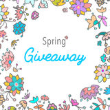 Giveaway banner for social media contests and special offer. Royalty Free Stock Photos