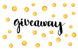 Giveaway banner for social media contests  Royalty Free Stock Photo