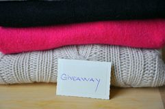 Giveaway clothes, donation concept  Royalty Free Stock Photography