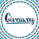 Giveaway icon for social media contests. Vector Royalty Free Stock Photos