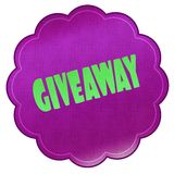 GIVEAWAY on magenta sticker. Stock Photo
