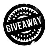 Giveaway rubber stamp. Grunge design with dust scratches. Effects can be easily removed for a clean, crisp look. Color is easily changed stock images