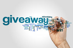 Giveaway word cloud Stock Images