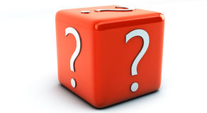 Given in 3d question mark Royalty Free Stock Image