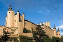 Given the Alcazar in Segovia (Spain) Stock Image
