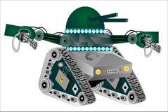 Robot tank stock illustration