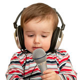Given a speech toddler Royalty Free Stock Photography