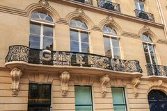 Givenchy luxury fashion brand in a chic Paris neighborhood stock photography