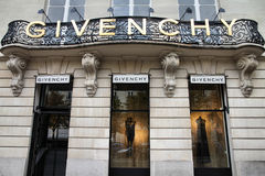 givenchy paris shopping Arkivbilder
