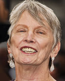 "The Giver. Author/writer Lois Lowry arrives for the world premiere of the futuristic dystopia, ""The Giver,"" at the Ziegfeld Theatre in New York City on Royalty Free Stock Photos"