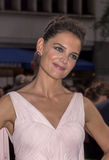 "The Giver. Glamorous film actress Katie Holmes arrives for the world premiere of the futuristic dystopia, ""The Giver,"" at the Ziegfeld Theatre in New York Stock Images"