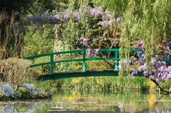 Giverney - Monet's garden. The bridge in the garden's of Monet's house in Giverney, France Stock Photos