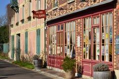 Giverny Francja, Luty, - 29 2016: malownicza wioska w wint Fotografia Stock