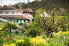 Giverny, House and gaden of Claude Monet. House and garden where painter Claude Monet lived and worked in Giverny village, Upper Normandy, France Stock Photography