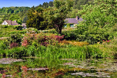 Giverny, Monet's Water Garden. The water garden made famous by the Impressionist painter Claude Monet in his water lily paintings, located  in the village of Stock Photos