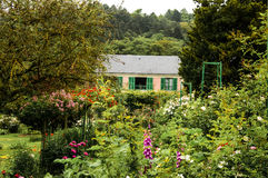 Giverny,  Normandy. Painter-impressionist`s Claude Monet house and garden in Giverny, Normandy, France Stock Photos