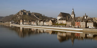 Givet: small French town at the water Stock Images