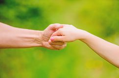 Free Giving All Support To Kid. Helpful Hand Of Father. Upbringing And Child Development. Kindness And Support. Trustful Royalty Free Stock Images - 160231839