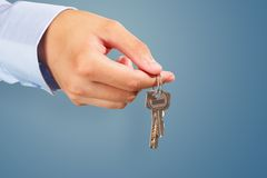 Giving away the keys Royalty Free Stock Images