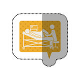 Giving birth pictogram. Icon vector illustration graphic design Royalty Free Stock Photo