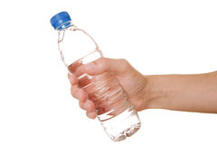 Giving a bottle of life Stock Images