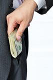 Giving a Bribe Stock Photography